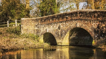 The bridge at Bockhampton over the River Frome