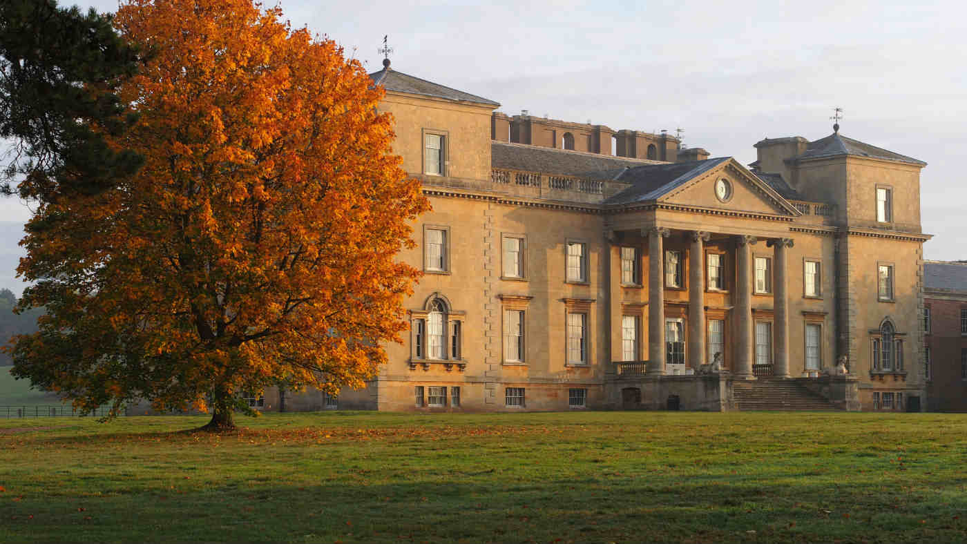 Croome Court exterior in autumn
