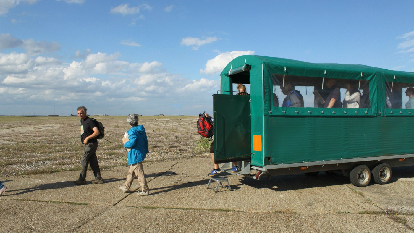 Trailer bus on Orford Ness
