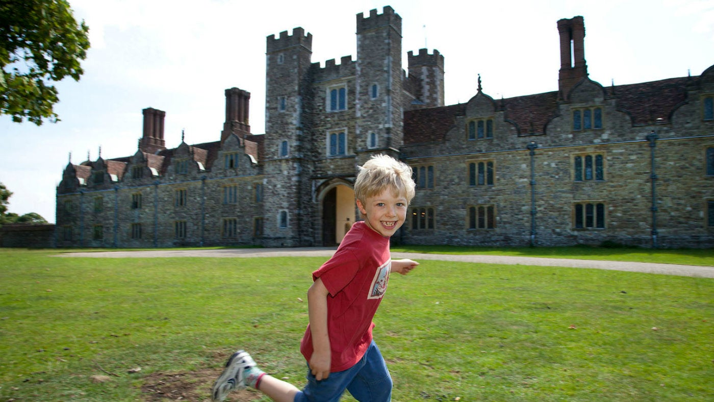Knole Park is a great place to run and play.