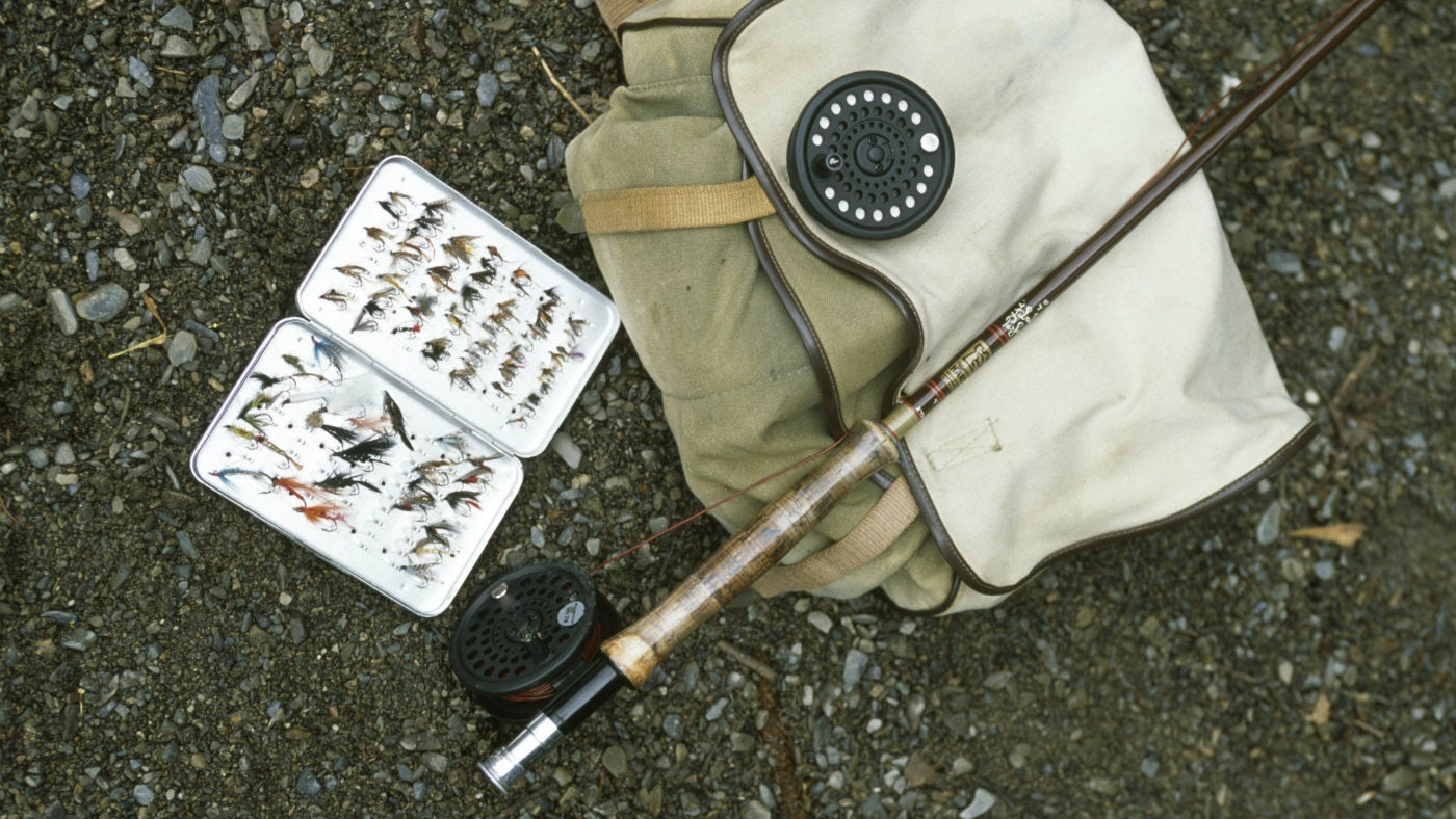 Fishing equipment, Loweswater, Lake District