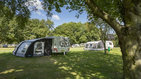 View of Waterclose Meadow campsite, Houghton Mill