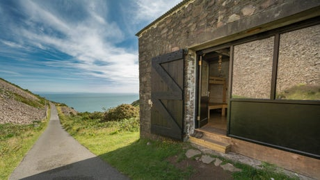 The exterior of Foreland Bothy, Lynton, Devon