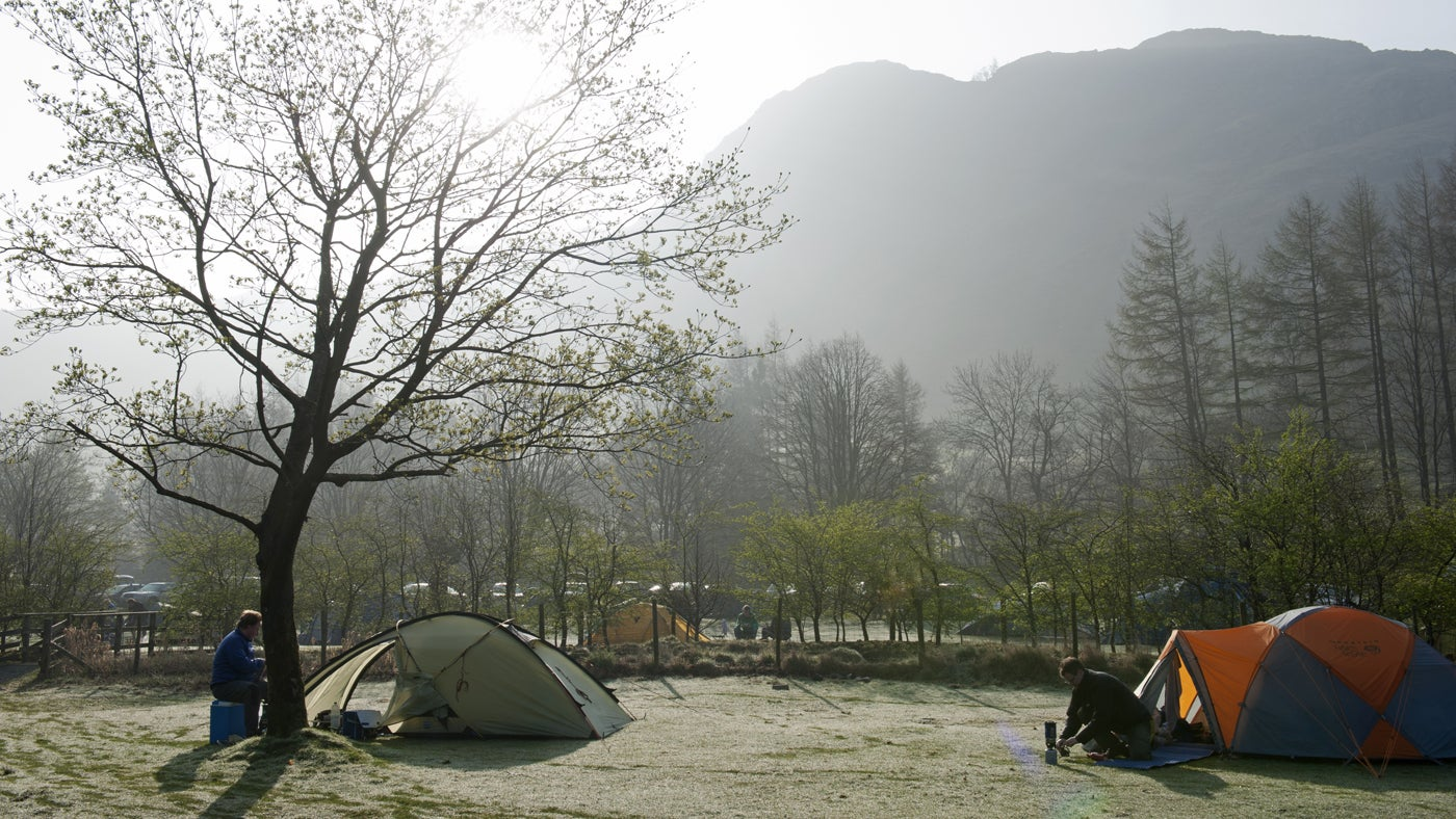 Great Langdale Campsite, Ambleside, Lake District, Cumbria