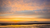 Sunset over the Solway Firth from Whitehaven Coast, Cumbria