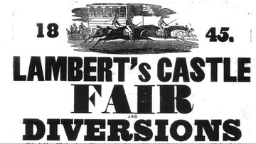 An excerpt from the 1845 Lamberts Castle Fair poster