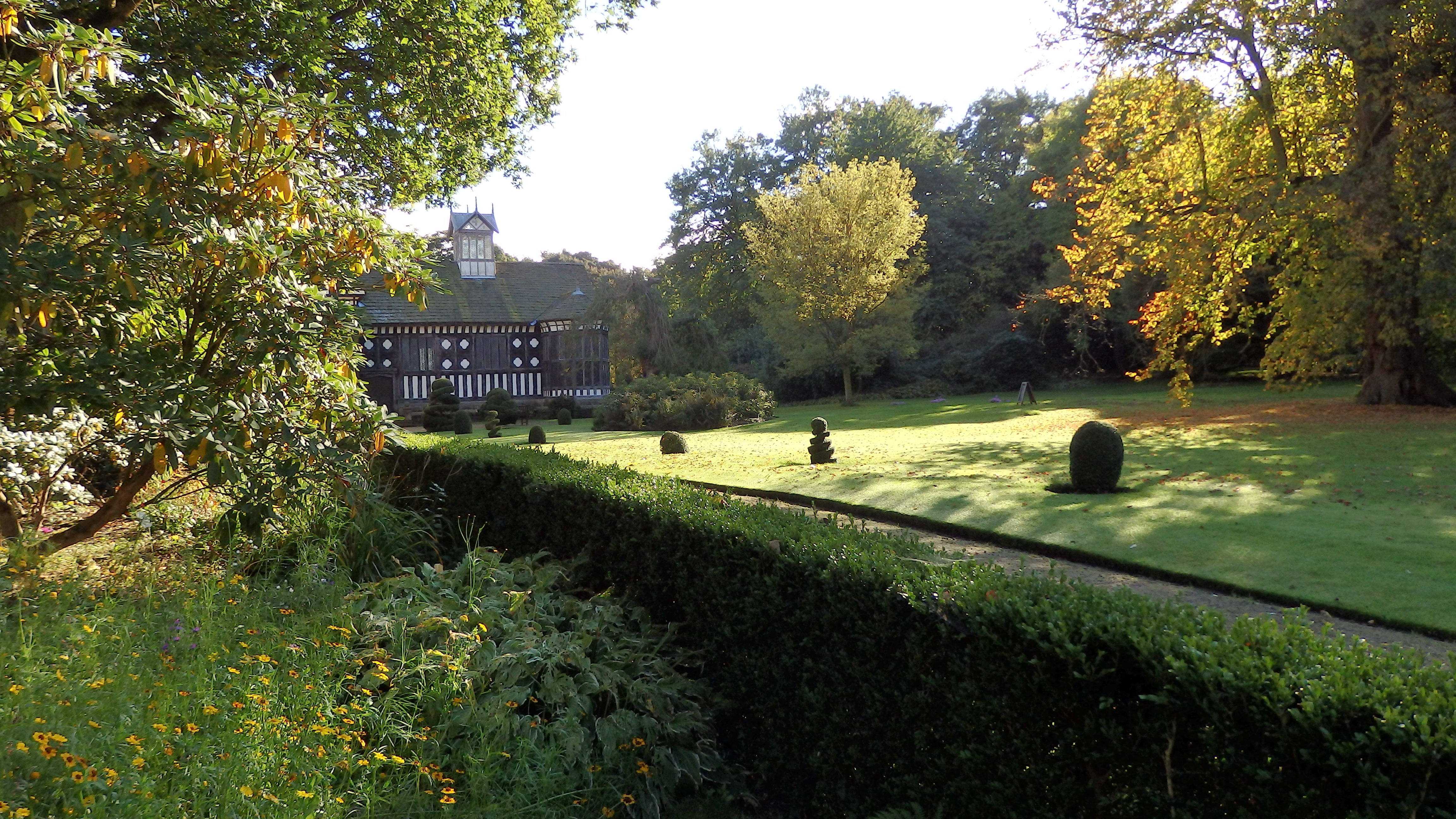 Rufford Old Hall autumn landscape image