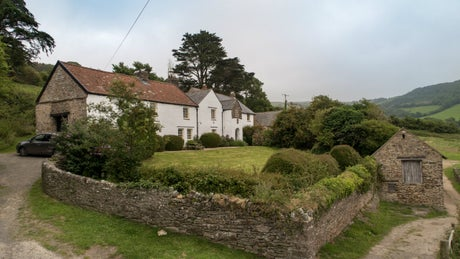 The Exterior of West Challacombe Manor, Combe Martin, Devon