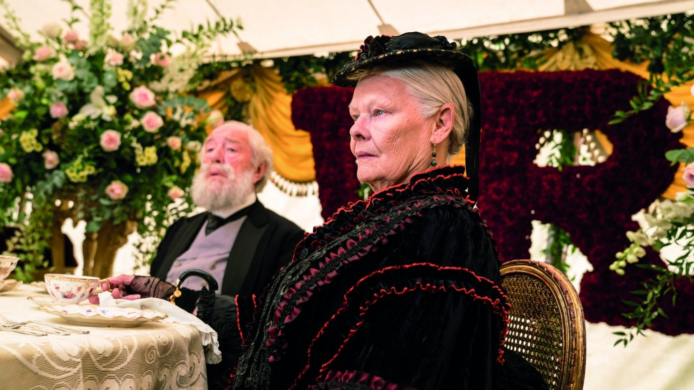 Sir Michael Gambon and Dame Judi Dench in the banqueting scene