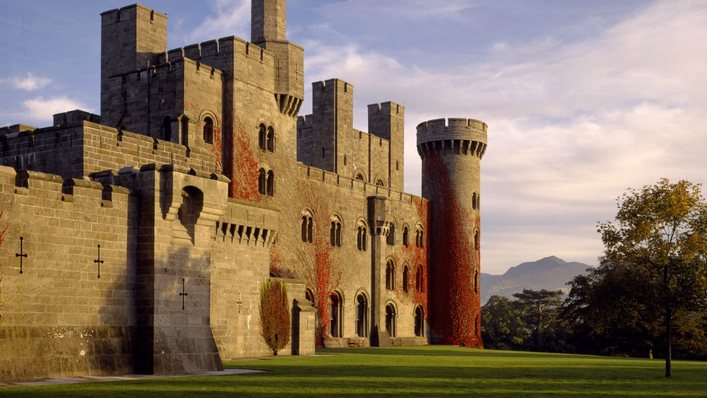 Penrhyn Castle in the Autumn sun