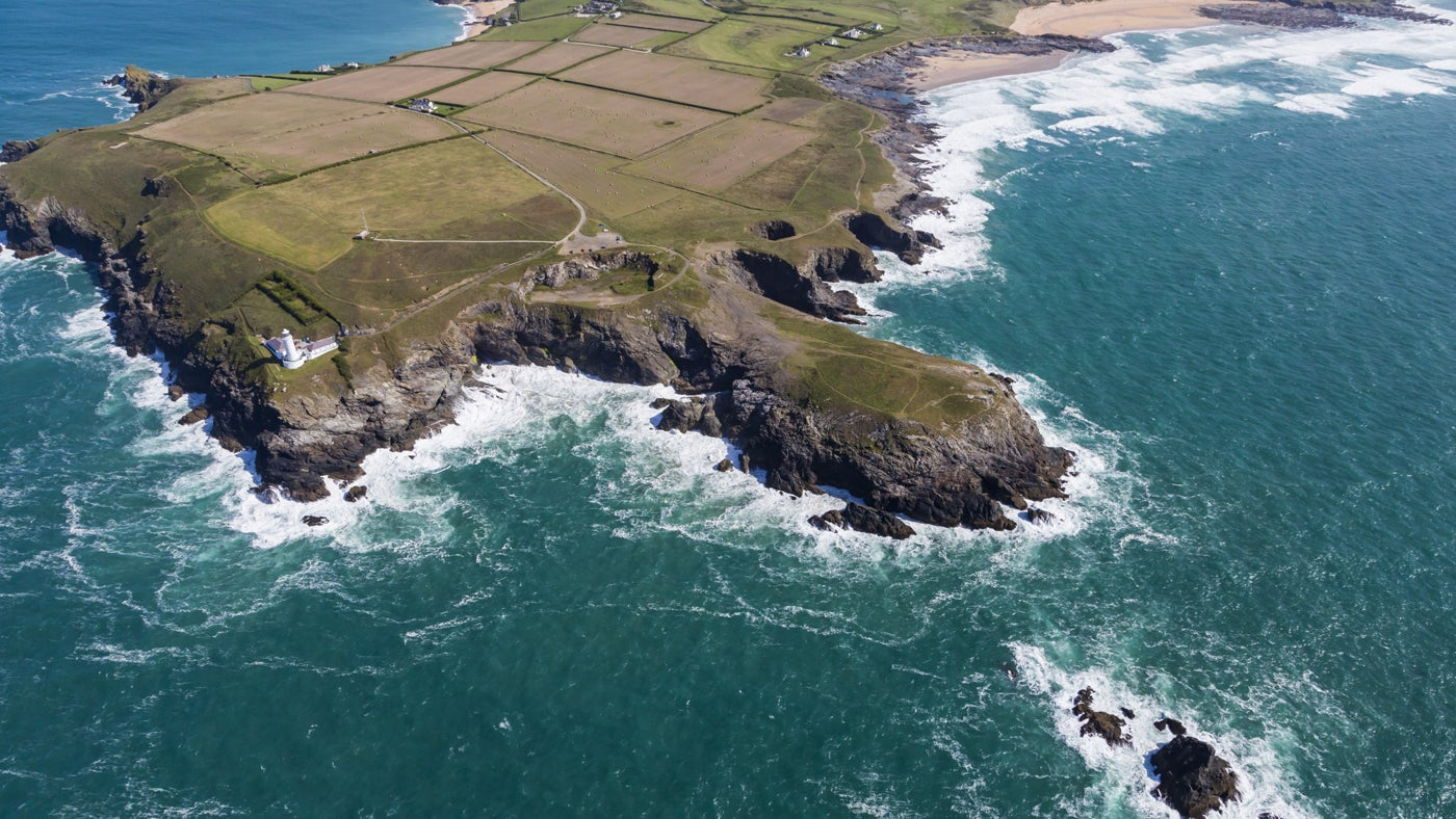 Aerial view of Trevose Head, Cornwall