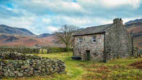 The exterior of Bird How, nr Gosforth, Eskdale, Lake District, Cumbria