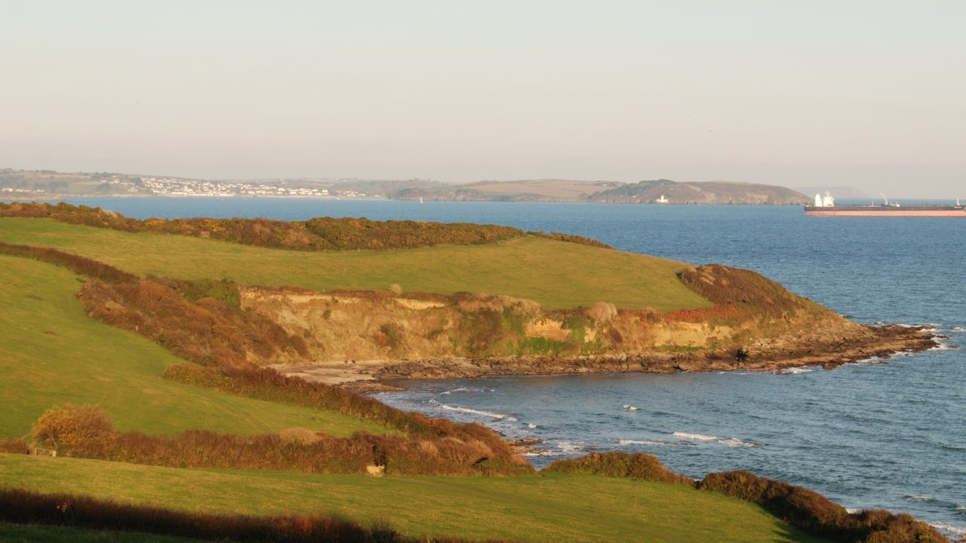a view of the Helford River and surrounding countryside