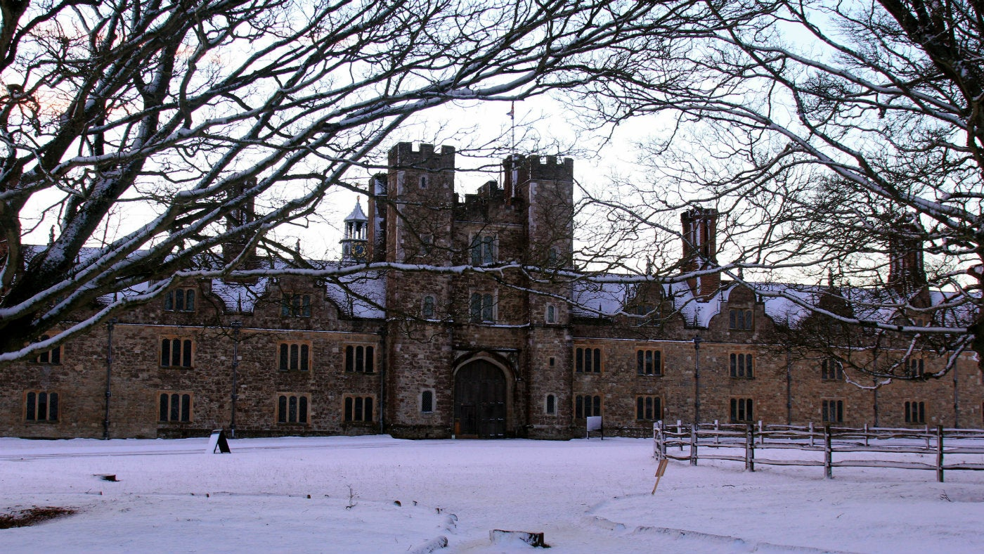 A snowy scene at Knole