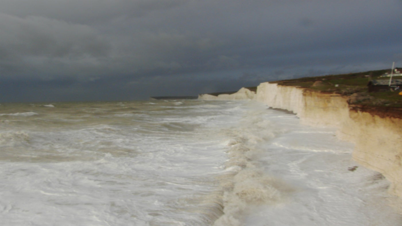 A stormy view from Birling Gap