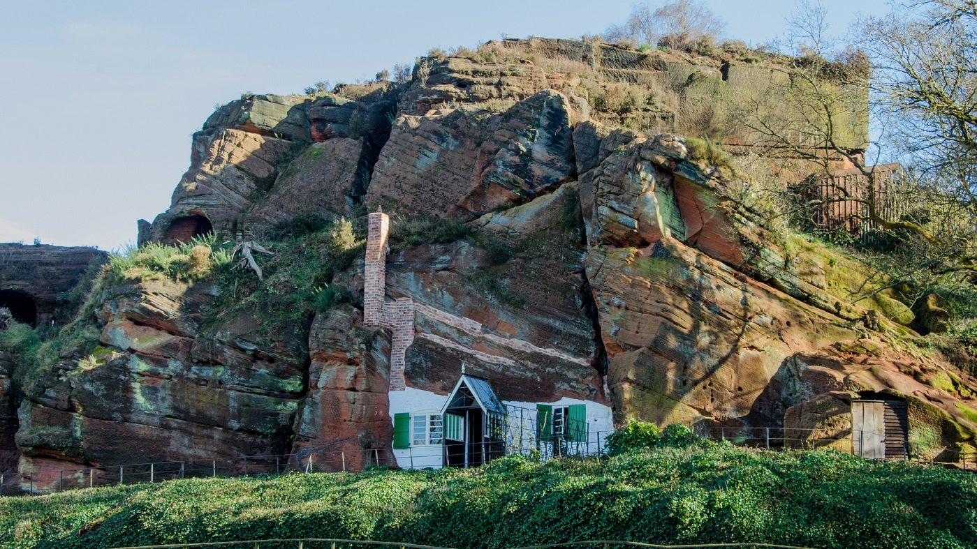 View of the rock houses in kinver