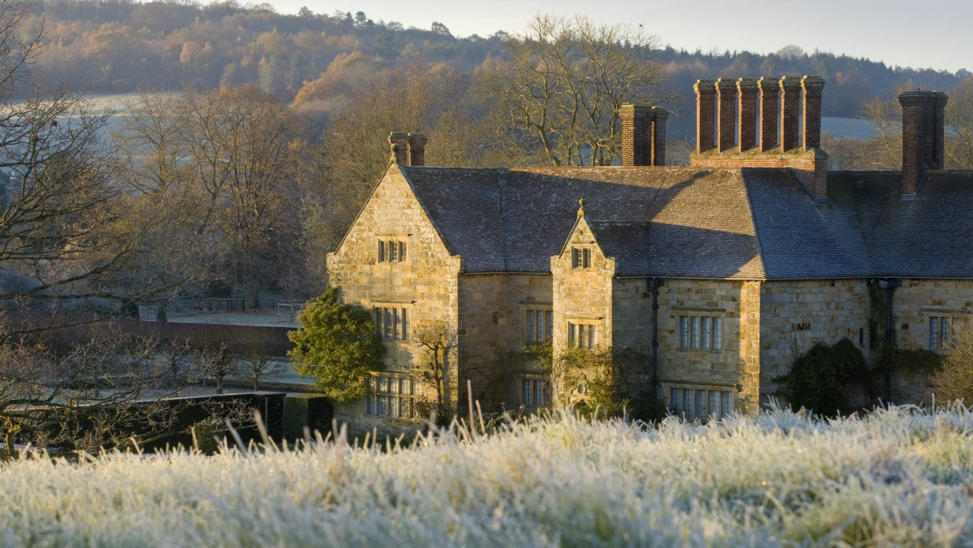 A view down to Bateman's from the Quarry Garden on a frosty morning