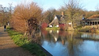 A bright sunny morning on the Stour - taking in Bridge Cottage