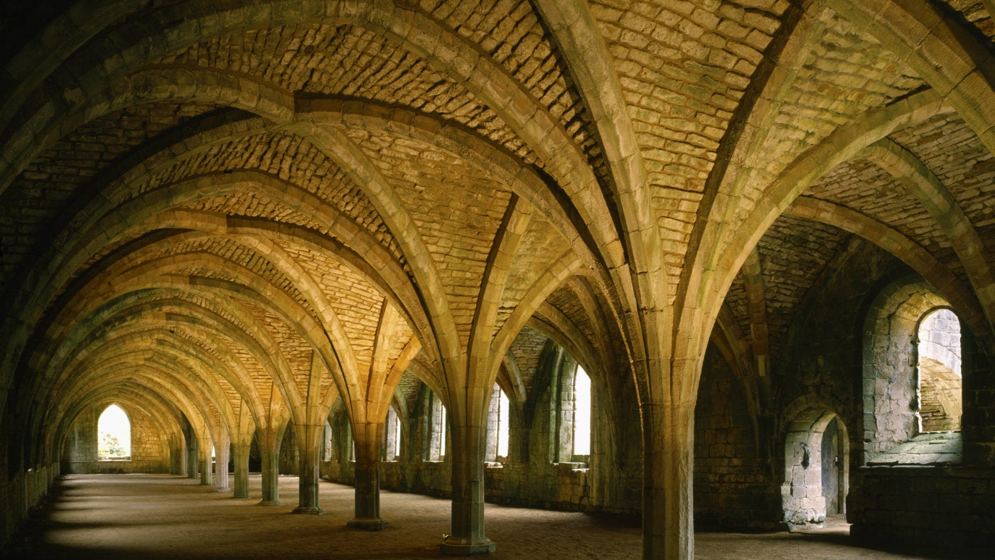 The Cellarium at Fountains Abbey, North Yorkshire