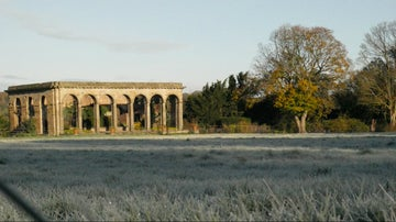 The orangery at Gibside on a winter morning