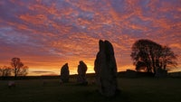 Stunning sunrise at Avebury