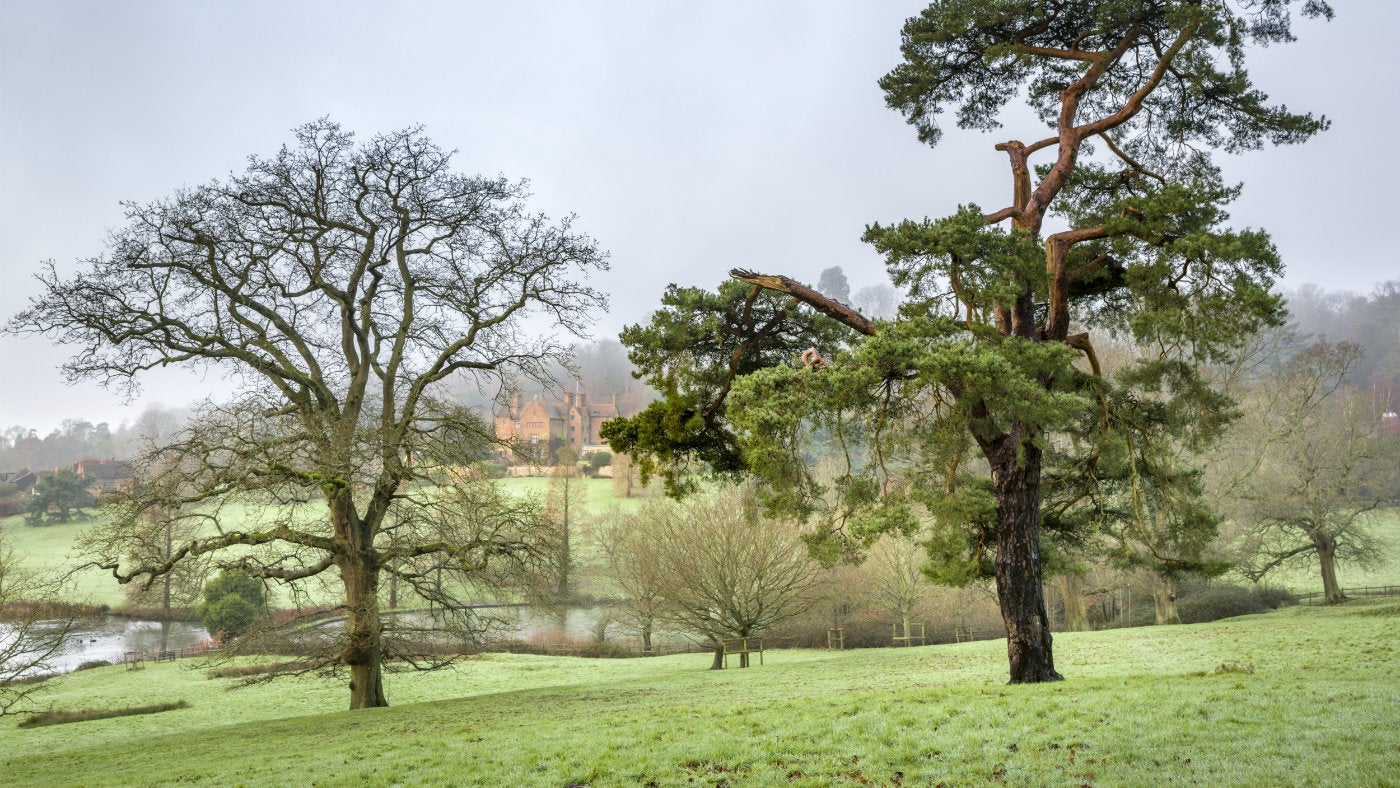 A winter view across the Chartwell estate, a National Trust property in Kent