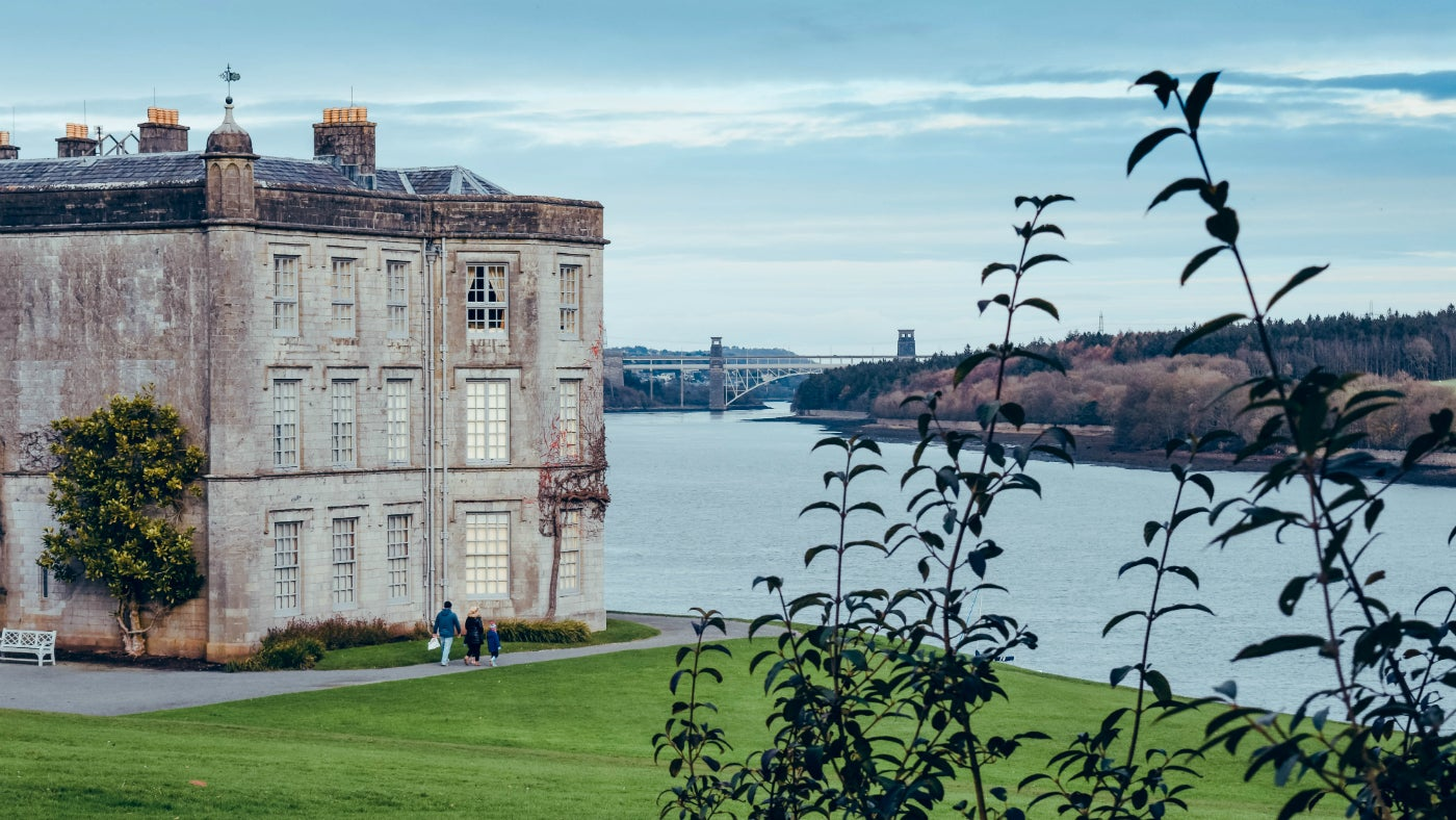 Plas Newydd with the Menai Strait and Snowdonia in the background