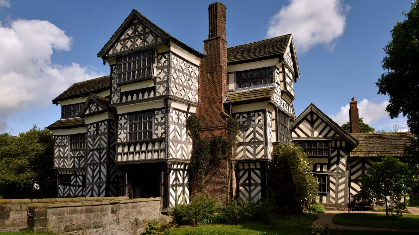 The south front of Little Moreton Hall, Cheshire