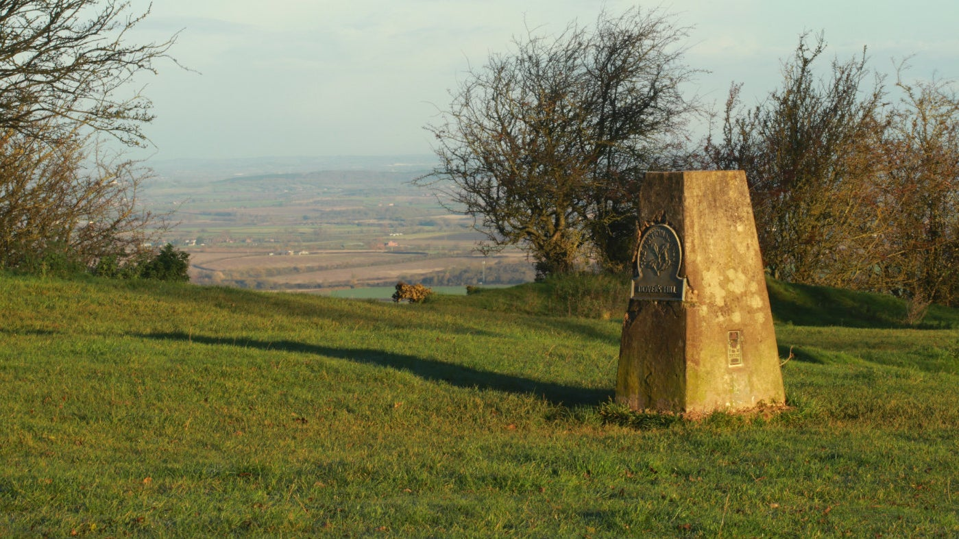 The highest point is marked by a trig point