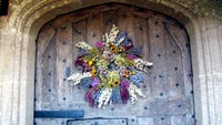 A wreath of dried flowers