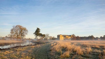 croome court in the frost