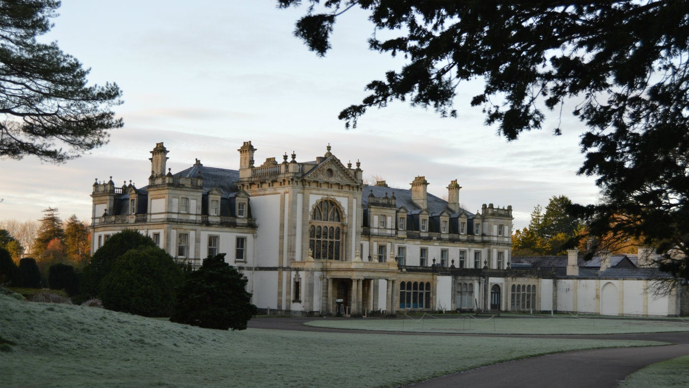 Dyffryn house in winter