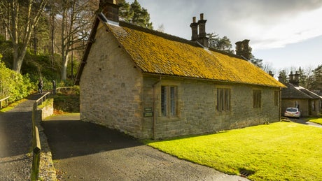 The exterior of Cragside Bunkhouse, Northumberland