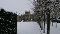 Snow at Coughton Court, Warwickshire