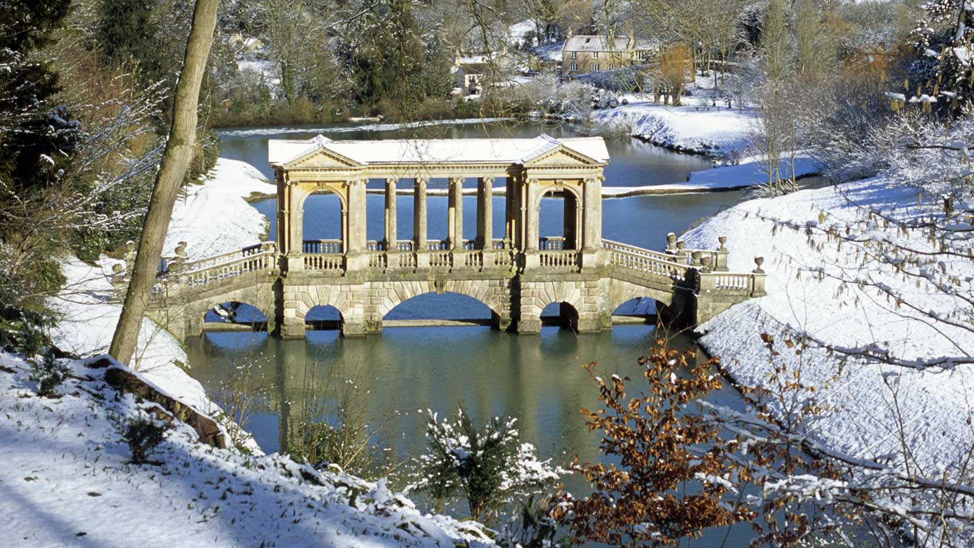 Prior Park in the snow