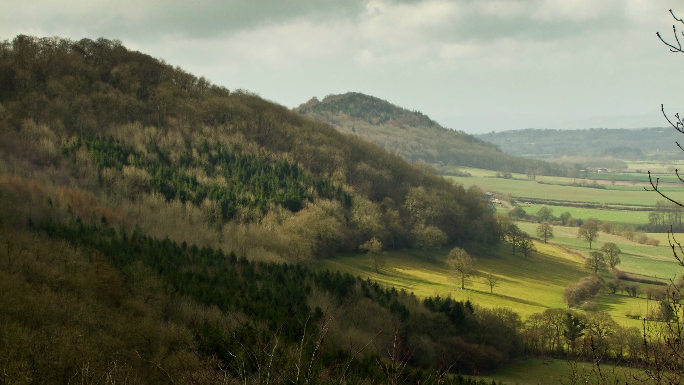 Granham's mount viewpoint on Wenlock Edge