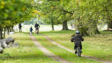 The Tramway trail cycle route at Calke Abbey in Derbyshire