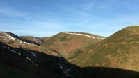 Snow on the hills above Carding Mill Valley