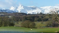 The snow ehancing an already beautiful view from Wray Castle