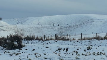 White Horse Hill in the snow