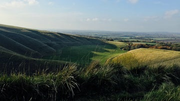 The manger below White Horse Hill in the Winters sun