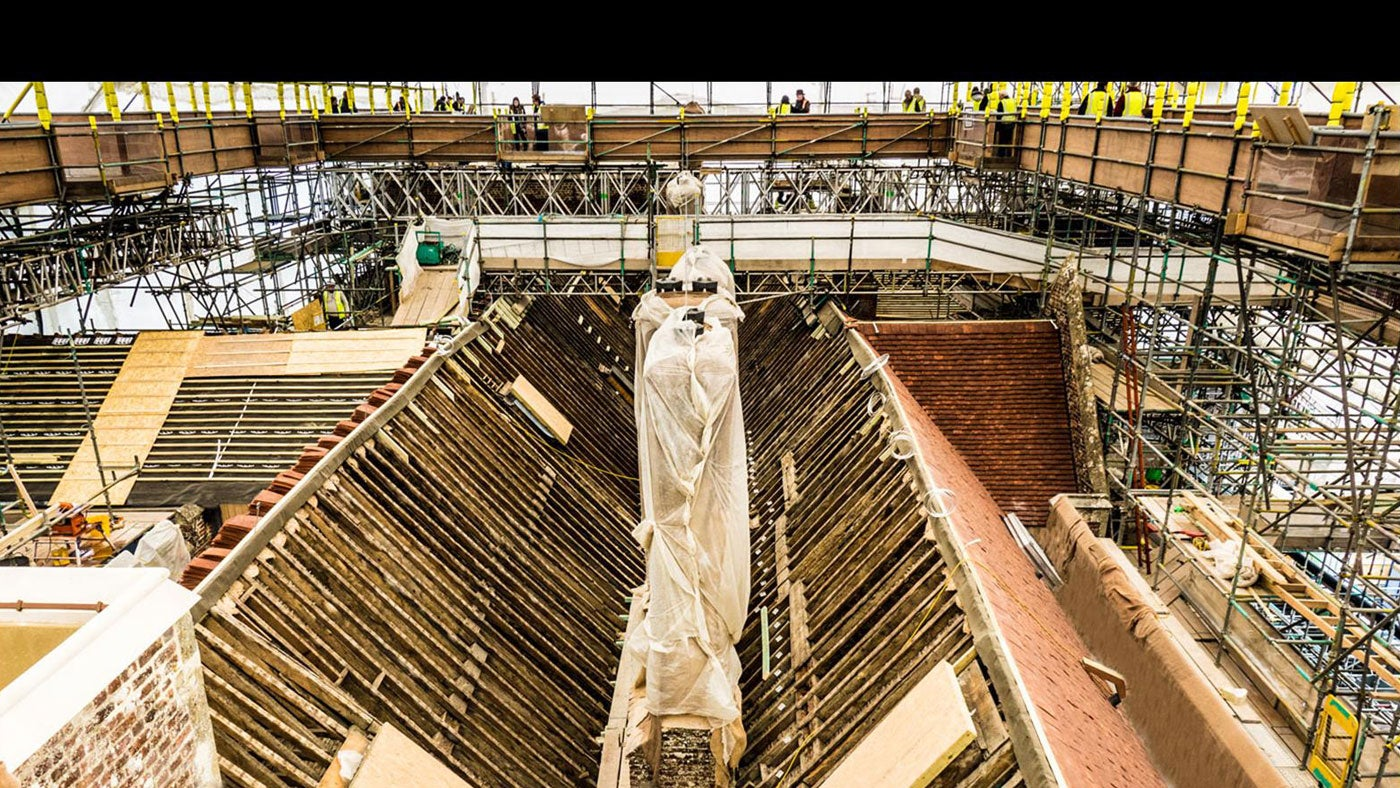 A view of The Vyne roof project