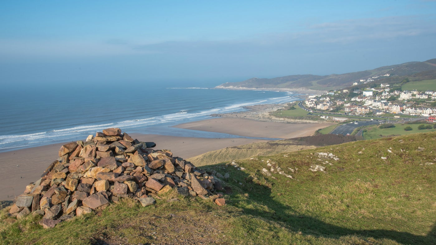 View over Woolacombe from Potter's Hill