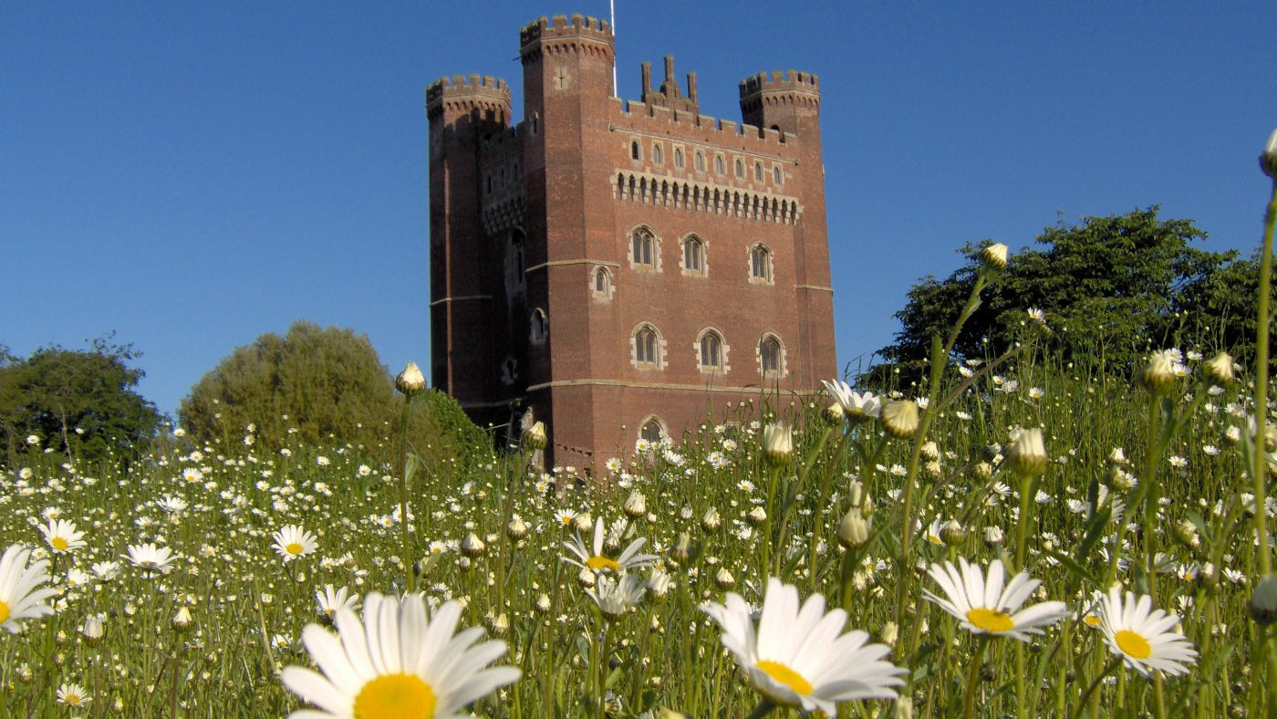 Tattershall Castle on the back of a daisy camp
