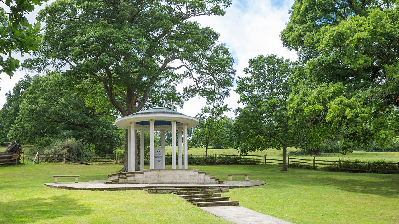 View of the Magna Carta memorial