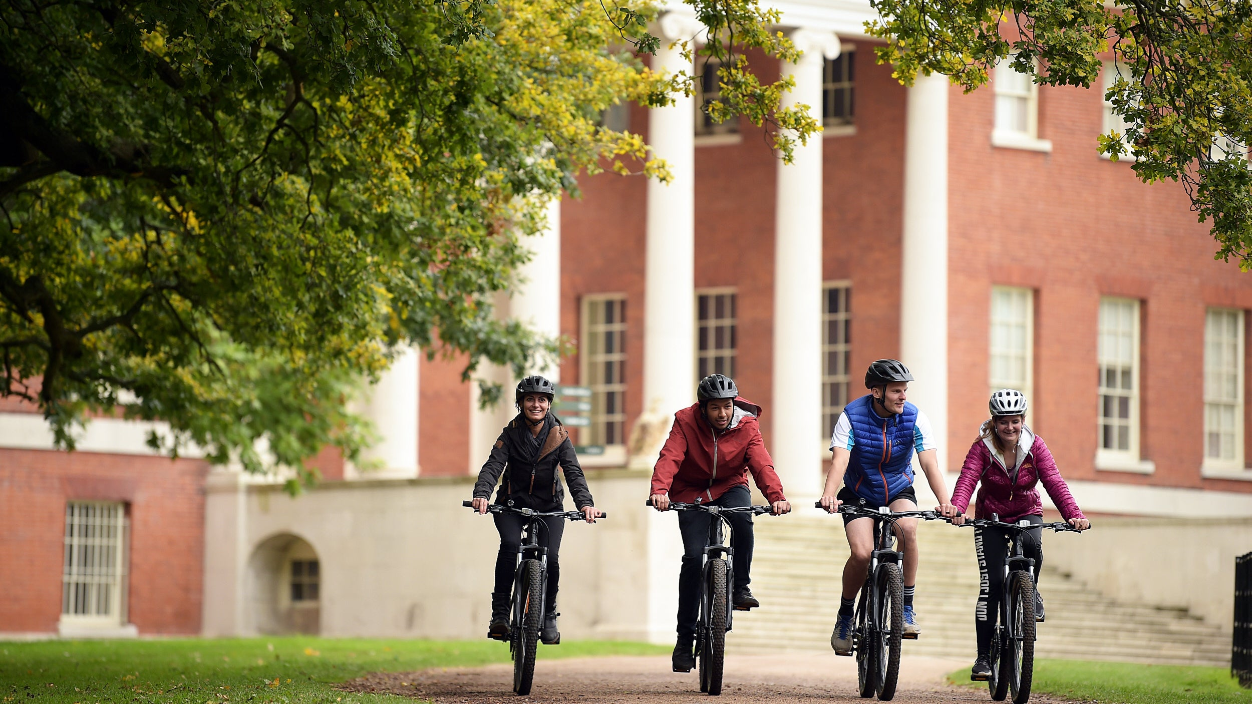 Visitors cycling at Osterley Park and House
