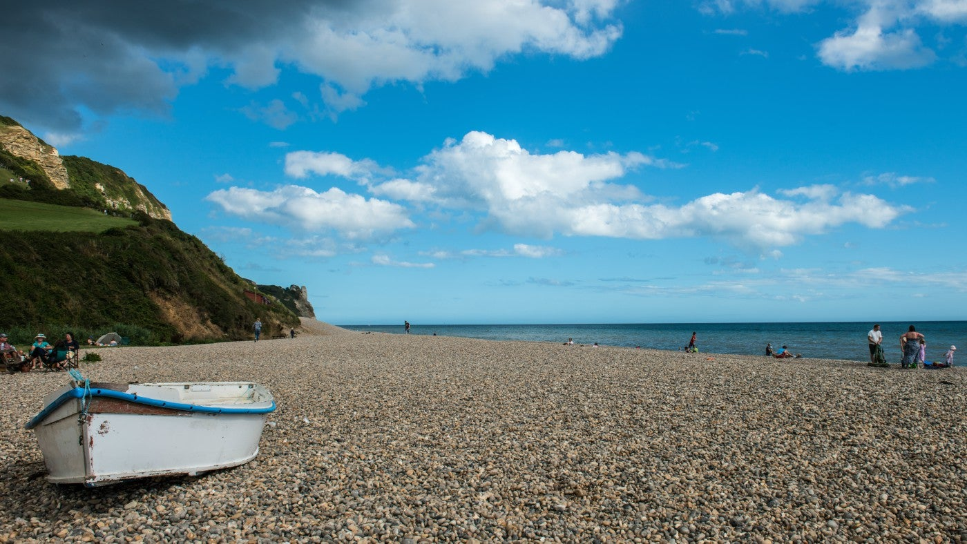 Unspoilt pebble beach at Branscombe