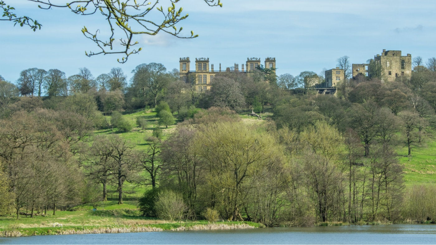 Hardwick Hall from the ponds early spring
