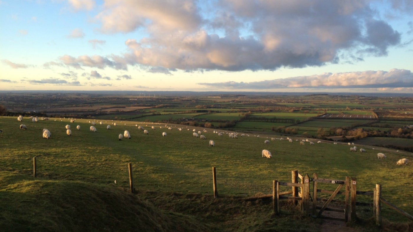Sunset around White Horse Hill