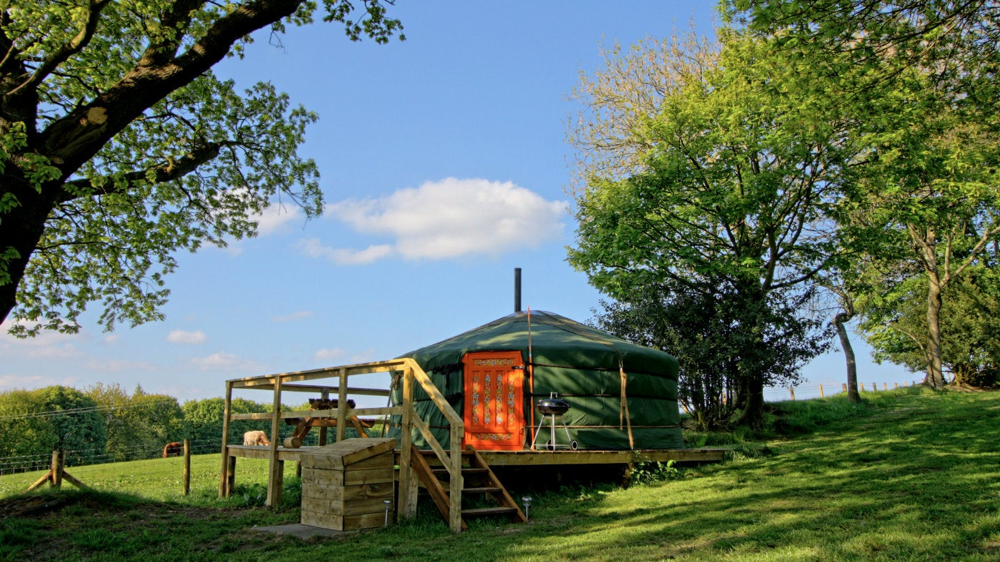 West Wood Yurts, Gibside Estate, Newcastle-Upon Tyne